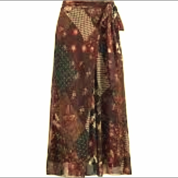Polo by Ralph Lauren Dresses & Skirts - POLO BY RALPH LAUREN SILK FAUX WRAP SKIRT SIZE 10